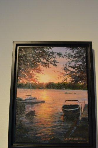 Lake Sunapee Sunset, Sally Ladd Cole.