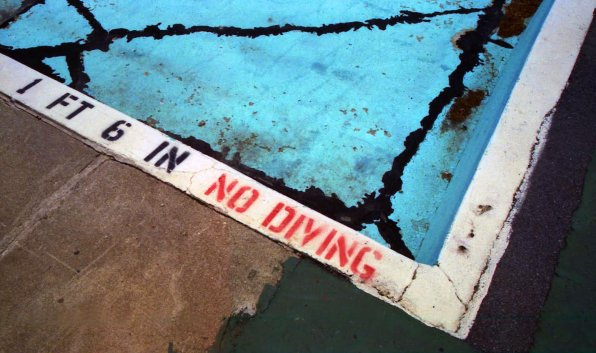 No Diving (from the old White Park pool).
