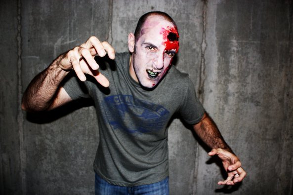 Keith as a zombie. Oh the memories.