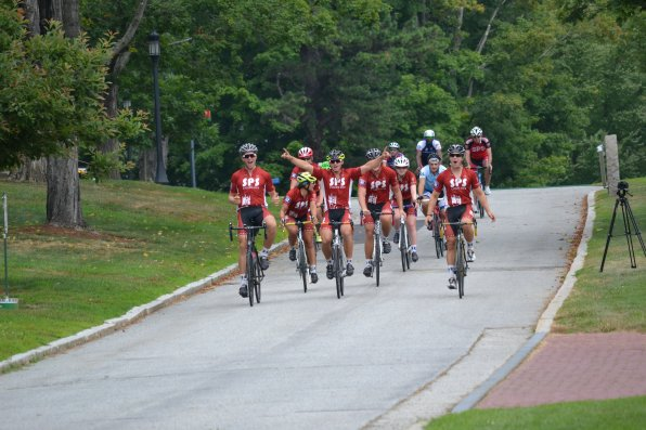 You can say the riders were pretty excited to pedal their way down Rectory Road last week.