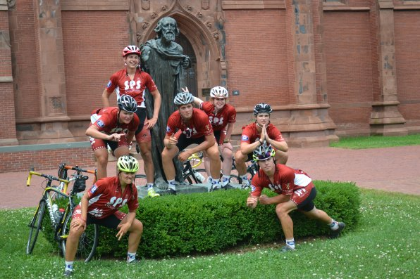 After riding almost 4,000 miles, you bet they were going to take some funny pictures.