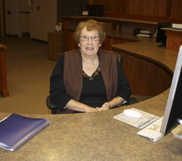 Receptionist Jan Neuman is considered an institution and a treasure by those who work and study with her. Look her up for a detailed history of the campus's expansion from a former silver factory to a six-building campus with additions galore!