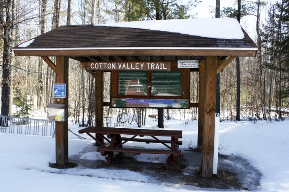 <strong>Cotton Valley Trail</strong></p><p>Wolfeboro has a bunch of parks and trails that are ready for action year-round. Cotton Valley Trail can be a nice nature walk once the snow's gone, but if you visit while the ground's still covered, it's a perfect cross-country skiing trail as well.