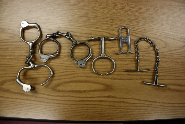 A look at some of the department's various cuffs that were used throughout the 20th century.