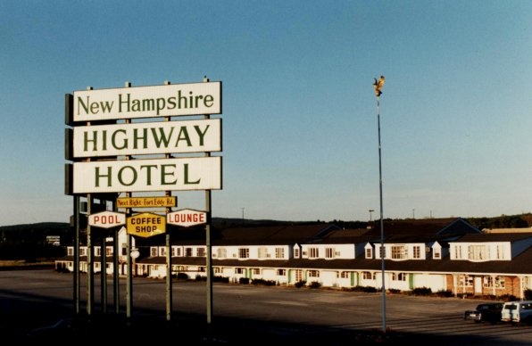 he New Hampshire Highway Hotel as it once was. The hotel was a haven for politicians and travelers alike.
