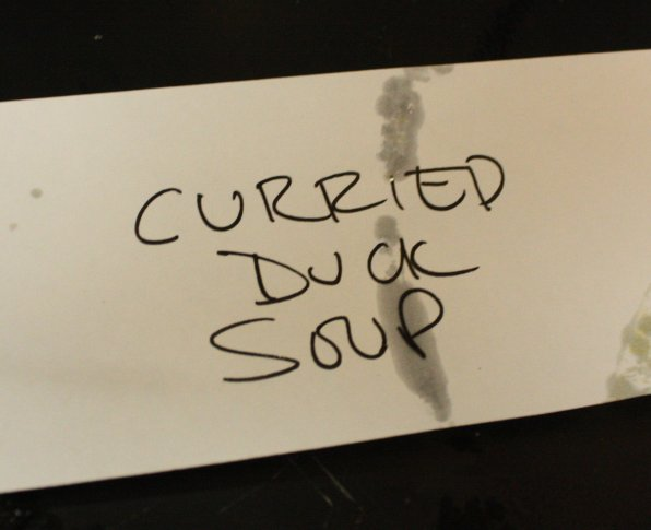 Students and parents brought in many varieties of soup to choose from.