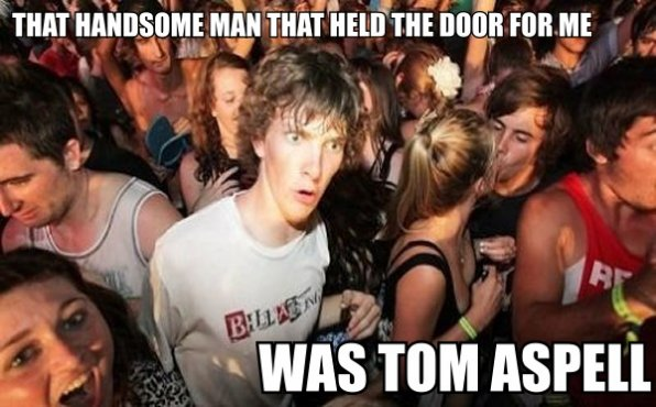 Sudden Clarity Clarence: Something just dawned on him - and it blew his mind.
