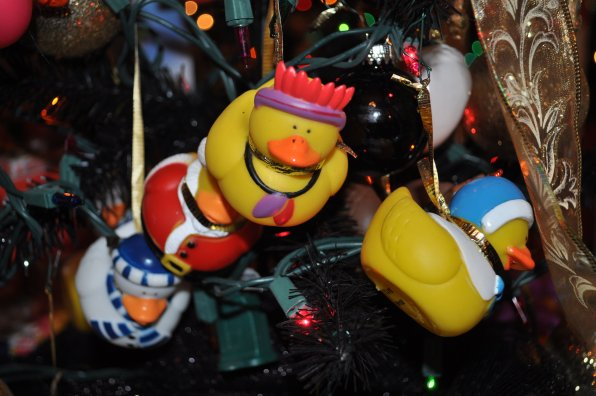 No tree is complete without rubber duckies!