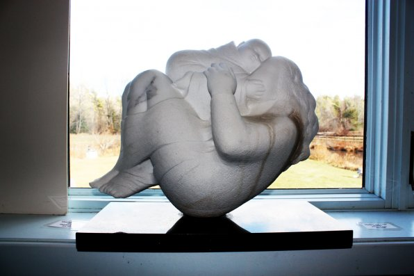 """Mother and Child,"" Fleur Palau, marble."