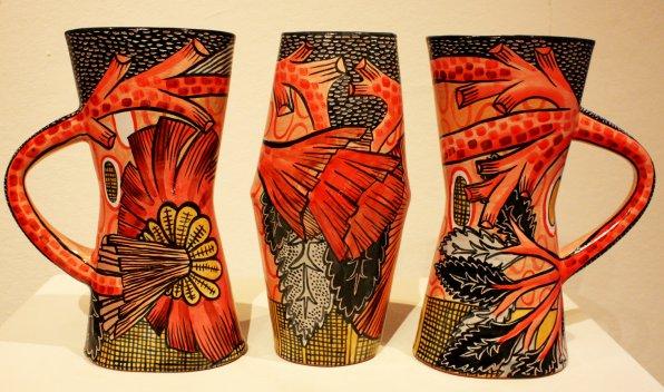 """""""3 Vases,"""" Megan Bogonovich."""