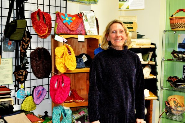 Deborah deMoulpied in her 35 S. Main St. store.