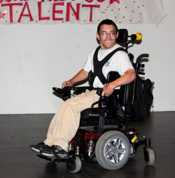 Justin Wilson pulled off some sweet moves in his motorized chair.