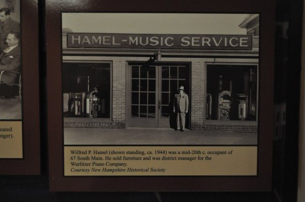 That's good ole' Wilfred P. Hamel, outside of his shop at 67 S. Main St. in the mid-20th century. He sold furniture and was district manager for the Wurlitzer Piano Company.
