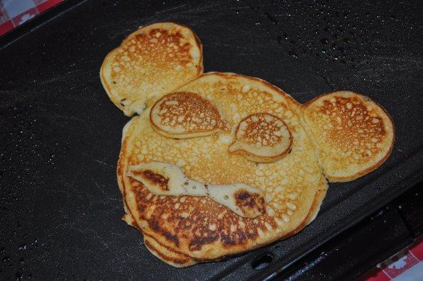 A Mickey Mouse pancake.