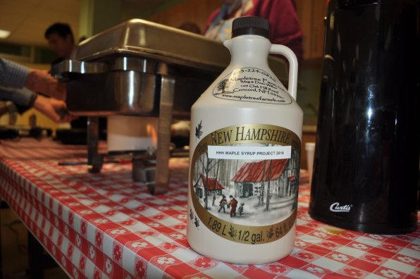 The finished product, one official gallon of homemade maple syrup.
