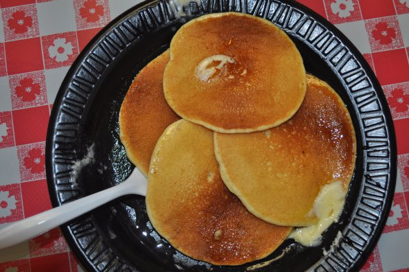 Pancakes smothered in Havenwood-made maple syrup. We may or may not have eaten them in about 30 seconds.