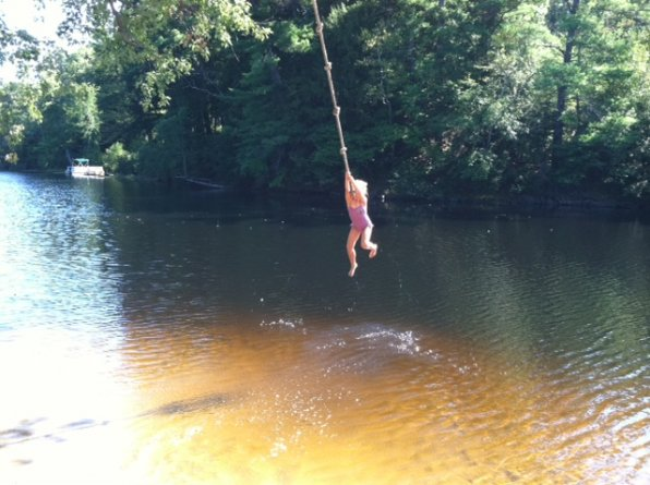 One of the most fun ways to cool off – and an excuse to yell tell like Tarzan.