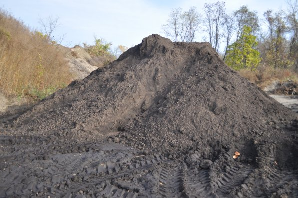 After about seven years of churning, this is what your leaves look like – a rich dirt that becomes a loam-like substance.