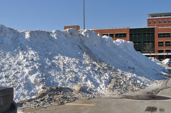 3. Photos didn't really do the size of this snowbank justice. It was a monster! And it was also apparently easy to find, because everyone nailed the Storrs Street location.