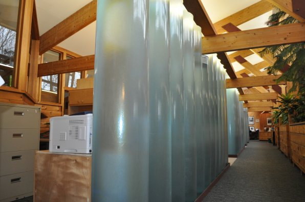 <strong>The Society for the Protection of New Hampshire Forests</strong></p><p>This place might as well be called the Society For Efficiency Efficientness. It's everywhere! The initial wing, built in 1980, features water tubes (photo below) that collect sunlight and store heat that is released as the room cools to lessen the reliance on the building's heating system.