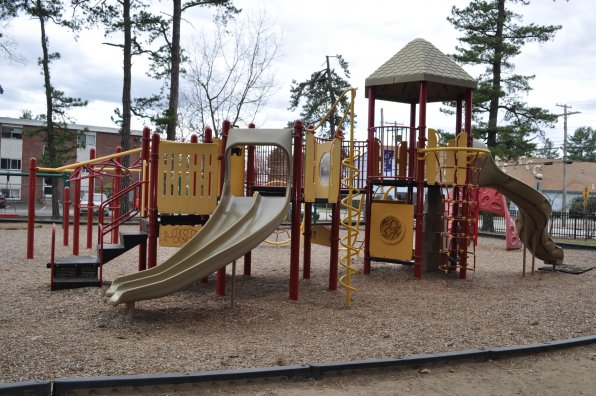 <strong>Keach Park</strong></p><p>Keach Park on Newton Avenue is definitely at the head of the colorful playground pack. And check out those sweet squiggly thingers! Keach also boasts a swimming pool and one of the city's better (and more active) basketball courts, as well as tennis courts and fields for Little League baseball, softball and soccer. Hungry? There's a ton of places on the Heights to eat, and you can bring the grub to the covered picnic area, right next to the playground, so you can always keep an eye on your little ones.