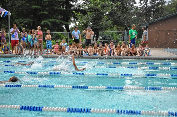 The city-wide swim meet put on by the parks and rec department drew a solid crowd of kiddos in August of 2013.
