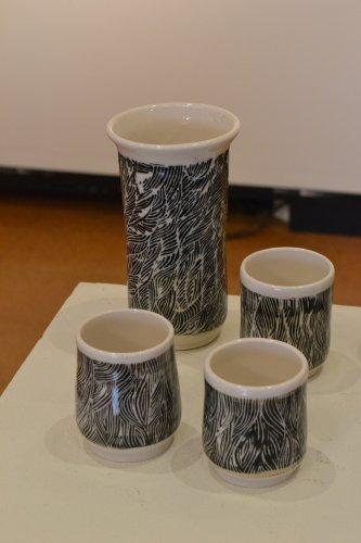 Black and White Carved Set, Soderberg.