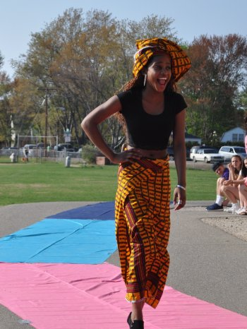 Paulette Niwewase was all smiles on the runway.