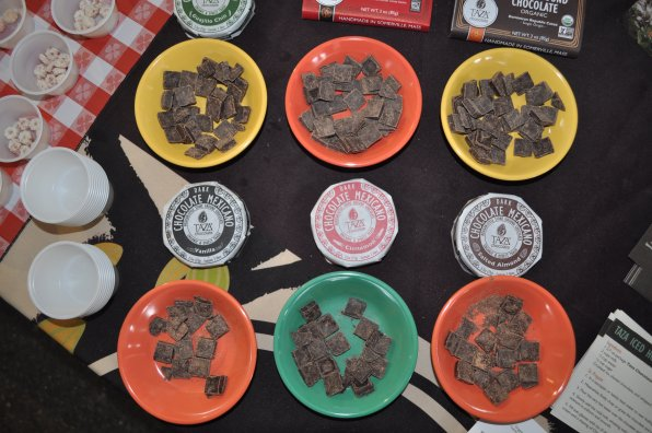 Taza Chocolate brought some delectable flavored chocolate treats.