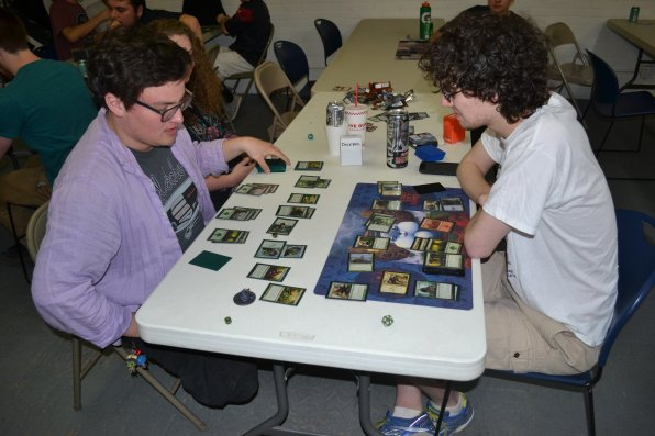 Let's just say Jay Blair and Evan Collins are in the middle of one of those legendary Magic the Gathering battles.