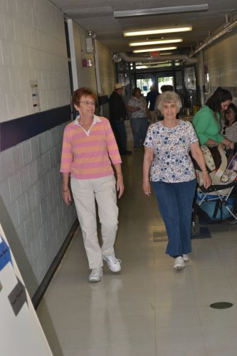 Ruth Forest and Janet Pethic are dedicated walking buddies and it gives them a chance to catch up on some of their televisions programs.