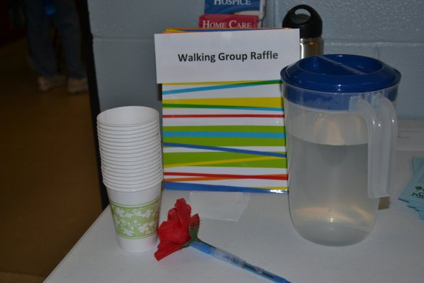 Some of the senior walking group amenities.