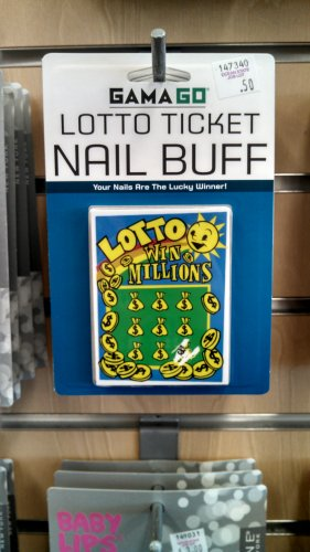 This item works exactly like a lottery ticket in that you are handing someone money you'll never get back. But everyone's dream of being able to watch their nails finally enjoy some luck has come true.