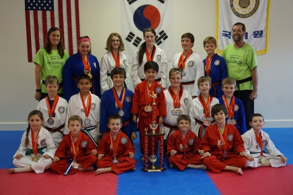 These kids from Capital City Tae Kwon Do killed it at a tournament in Massachusetts. Check out that trophy!