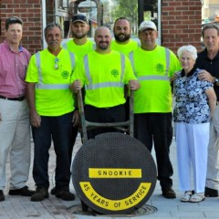 Sewer crew jazzes up manhole cover in honor of good ole' Snookie