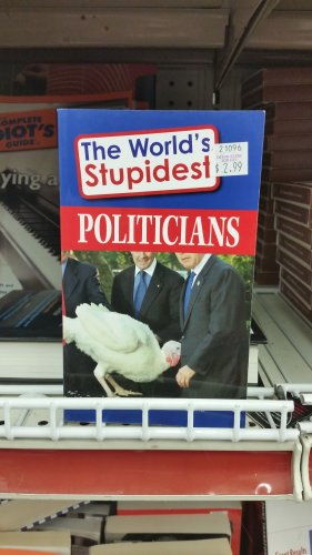 You can't tell from the angle of the photo, but this book is 421,288 pages long. That chicken's no dummy, though – he made his stance on belt tightening abundantly clear.