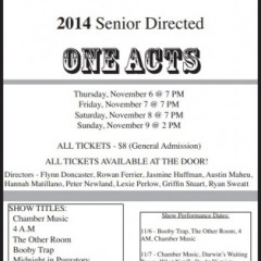 Beloved one-acts back at CHS this weekend