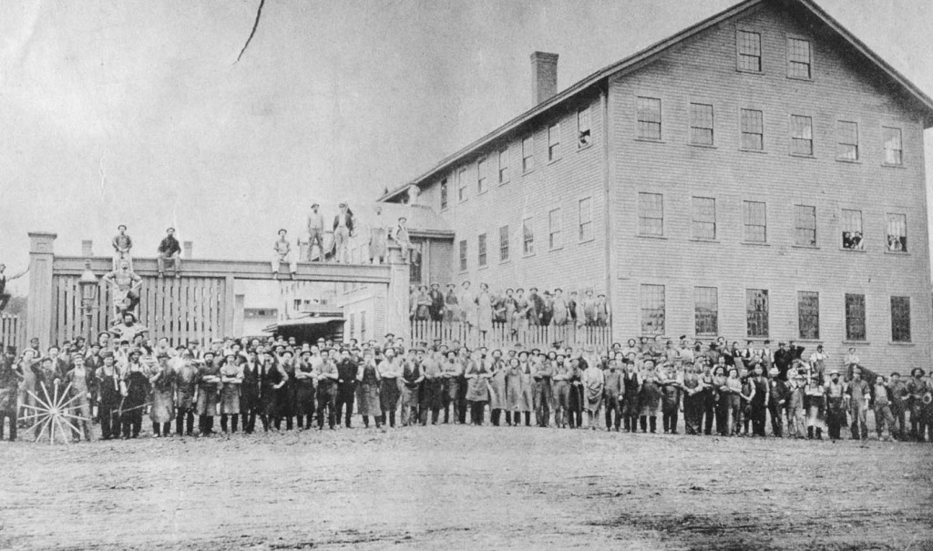 Around 1900, Concord's famous Abbott and Downing Company liked to have all of its employees stand outside the South Main Street plant for a group photo. White it brought productivity to s screeching halt, at least we have this pic to show for it. Thanks to reader Earl Burroughs for sending it in.