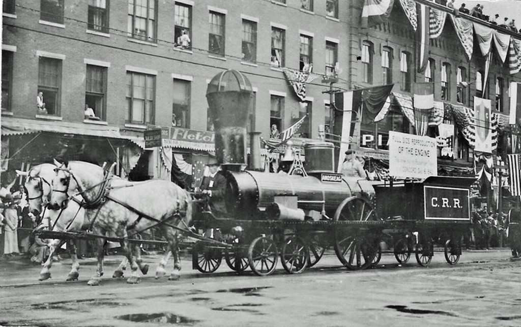 We got this photo of a parade down North Main Street from reader Earl Burroughs, but we're all uncertain of the year. What we are certain of is the fact that we'd go to more parades circa 2015 if they had sweet steam engines pulled by horses. Take notes, parade planners. We want to see your classic Concord photos, too – dig 'em up and email them to us at news@theconcordinsider.com and we'll take it from there.