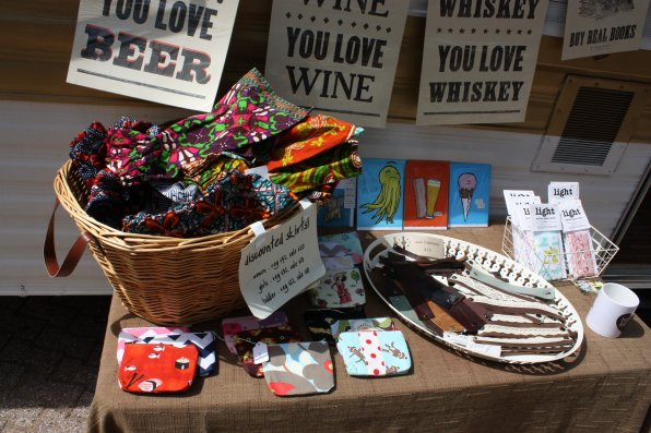 Some of the goods on sale at the Concord Handmade RV/store at the Concord Arts Market, which runs until Oct. 3.