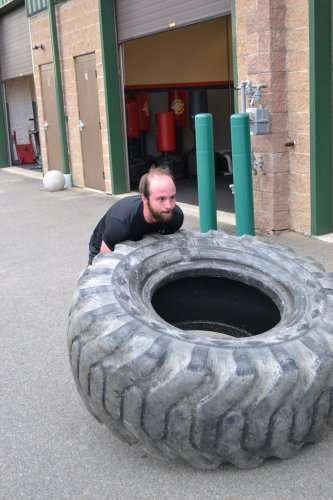 We always thought tire flipping was only part of the world's strongest man competition. Turns out it happens right here in Concord, too.
