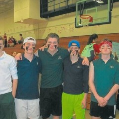Bishop Brady helps prove that dodgeball in schools is a thing again