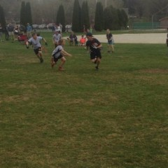 Kids took the ball and ran with it during flag football opening day