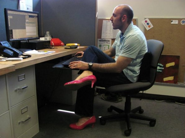 Keith sure did like to wear pink high heels around the office. He and his fashion sense sure will be missed.