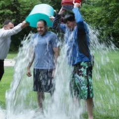 You didn't think we'd duck the ALS ice bucket challenge, did you?