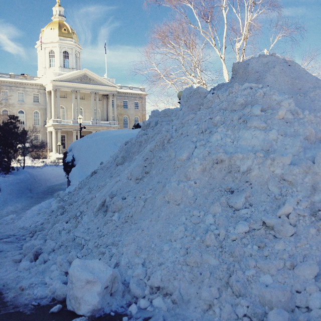 The competition to see what's taller by the end of winter, the State House dome or the piles of snow, is officially on. Word of warning, though – if the snow piles win, we're jumping off the dome. Thanks to Instagram user @a_bacher15 for the photo! Tag us with #concordinsider when you post, and we'll find the best stuff.