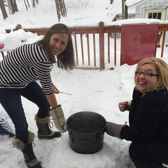 At least all this snow is good for SOMETHING. Instagram user @girldogbike was whipping up Belgian white and needed a place to cool the wort. Boom – cooled. As a bonus, beer has been proven to make repeated snowstorms every two or three days exponentially more survivable. Have one for us, ladies!