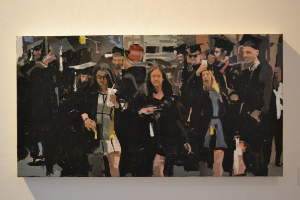 """Graduation,"" acrylic."
