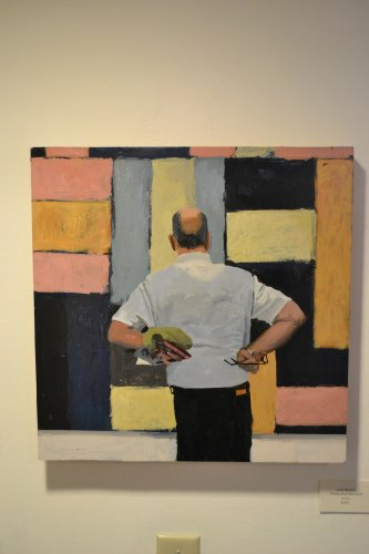"""""""Thinking About Sean Scully,"""" acrylic."""