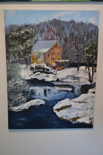 Mill House Winter, Lee St. Laurent.